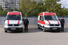 The Medical Institute of Ministry of Internal Affairs received two new ambulances with modern medical equipment