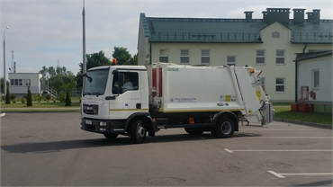 Side Loading waste collection truck